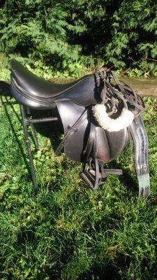 vds selle de cheval bride mat complet