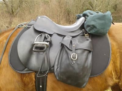 """Horseback riding saddle Forestier Horizon 17 {#inches#}"""" 1995 Used"""