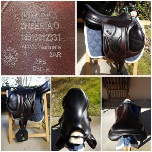 """Jumping saddle Devoucoux Chiberta O 18 {#inches#}"""" 2016 Used"""