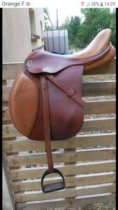 "General purpose saddle Eric Thomas Saumur 17.5 {#inches#}"" 2007 Used"