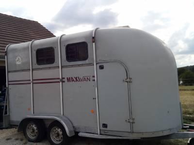 Van fautras oblic 2 places chevaux + home car