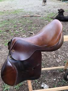 Selle cheval eric thomas oxer 17 pouces