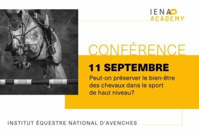 Conférence - Peut-on préserver le bien-être des chevaux