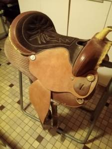 Vends selle western